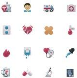 Medicinsk symbolsuppsättning för vektor royaltyfri illustrationer