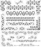 Uppsättning av dekorativa beståndsdelar Royaltyfri Fotografi