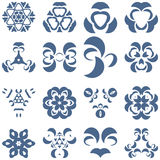 Uppsättning av dekorativa logobeståndsdelar Vektor Illustrationer