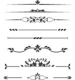 Uppsättning av dekorativa monogram för text, mönstrade band Royaltyfri Foto