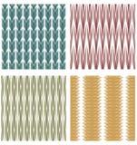 Uppsättning av dekorativa tegelplattor med dekorativa modeller för remsa Fotografering för Bildbyråer