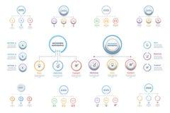 Uppsättning av den affärsInfographic mallen Moderna Infographics Timelin vektor illustrationer