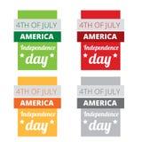 Uppsättning av den amerikanska självständighetsdagen Arkivfoto