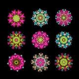 Uppsättning av den blom- arabesquen för din design Royaltyfri Fotografi