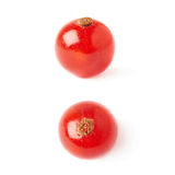 Uppsättning av den enkla röda vinbäret som isoleras över vit bakgrund Arkivfoto