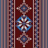 Uppsättning av den etniska prydnadmodellen i olika färger också vektor för coreldrawillustration Royaltyfri Foto