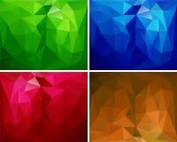 En uppsättning av polygonal bakgrunder 2 Arkivfoton