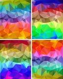 En uppsättning av polygonal bakgrunder Royaltyfria Bilder