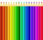 Uppsättning av den färgrika blyertspennavektorn royaltyfri illustrationer
