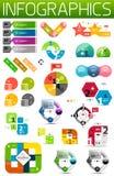 Uppsättning av färgrika pappers- infographic designbeståndsdelar Royaltyfri Foto