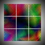 uppsättning av den färgrika prickiga bakgrundsvektorn Royaltyfria Bilder