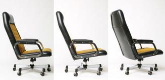 Uppsättning av den gamla designen för kontorsstol Fotografering för Bildbyråer