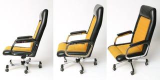 Uppsättning av den gamla designen för kontorsstol Arkivfoton
