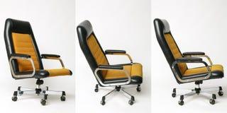 Uppsättning av den gamla designen för kontorsstol Arkivfoto