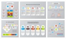 Uppsättning av den Infographic illustrationen i vektor stock illustrationer
