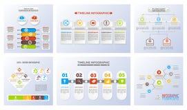 Uppsättning av den Infographic illustrationen i vektor vektor illustrationer
