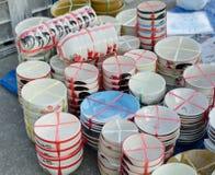 Uppsättning av den keramiska koppen Fotografering för Bildbyråer
