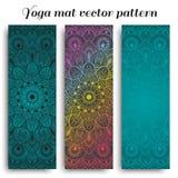 Uppsättning av den matta vektormodellen för yoga Royaltyfri Bild