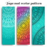 Uppsättning av den matta vektormodellen för yoga Royaltyfri Fotografi
