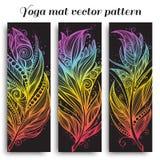 Uppsättning av den matta vektormodellen för yoga Arkivbild