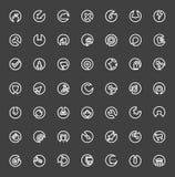 Uppsättning av den minsta plana linjen symboler Royaltyfri Fotografi