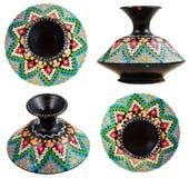 Uppsättning av den moroccan keramiska vasen med mosaikprydnaden Royaltyfria Bilder