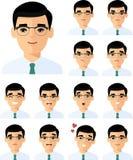Uppsättning av den olika avatarfolkmannen i färgrik plan stil Royaltyfri Fotografi