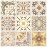 Uppsättning av den olika sömlösa geometriska modellen, textur för tapet, tegelplattor, webbsidabakgrund, tyg och designen för inp royaltyfri illustrationer