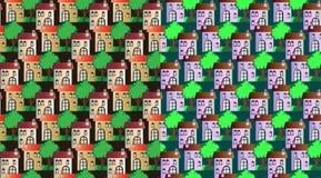 Uppsättning av den sömlösa stadsmodellen vektor illustrationer