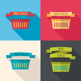 Uppsättning av den stora försäljningslägenhetsymbolen Arkivbilder