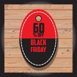 Uppsättning av den svarta fredag försäljningen Svart fredag baner Arkivfoto