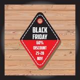 Uppsättning av den svarta fredag försäljningen Svart fredag baner det extra banret är kan den ändrande formatförsäljningen disket Royaltyfri Bild