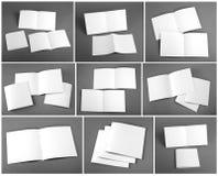 Uppsättning av den tomma tidskriften, katalog, broschyr, tidskrifter, bok royaltyfri fotografi