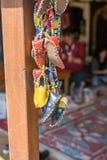 Uppsättning av den traditionella handen - gjorda skor Arkivfoto