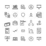 Uppsättning av den tunna linjen symboler för ledarskap vektor illustrationer