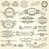 Uppsättning av designbeståndsdelar Arkivbilder