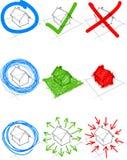 Uppsättning av designbeståndsdelar Fotografering för Bildbyråer