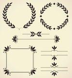 Uppsättning av designbeståndsdelar och sidagarnering. Royaltyfri Fotografi