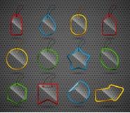 Uppsättning av designexponeringsglasbeståndsdelar. Royaltyfria Foton