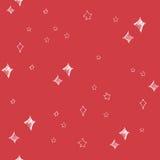 Uppsättning av det hand drog stjärnor och chrismasträdet för stilvektor för illustration retro tappning Seamless bakgrund chrisma Arkivfoton