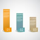 Uppsättning av det infographic alternativbanret Royaltyfri Fotografi