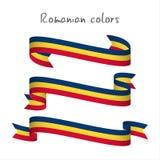 Uppsättning av det moderna kulöra bandet för vektor tre med det rumänska tric royaltyfri illustrationer