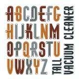 Uppsättning av det upper-case engelska alfabetet för förtätad, högväxt kall vektor Royaltyfri Bild