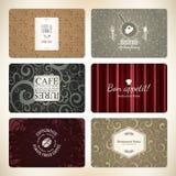 Uppsättning av 6 detaljerade affärskort stock illustrationer