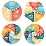 Uppsättning av diagrammet för information om affärscirkel, diagram stock illustrationer