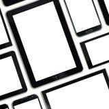 Uppsättning av digitala apparater för tomma mallar Royaltyfri Bild