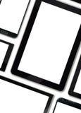 Uppsättning av digitala apparater för tomma mallar Arkivfoto