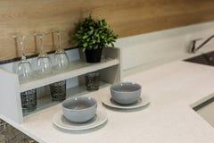 Uppsättning av disk för köket Arkivfoton