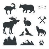 Uppsättning av djur, lösa fän, vactor arkivbilder