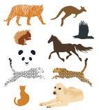 Uppsättning av djura vektorer royaltyfri illustrationer